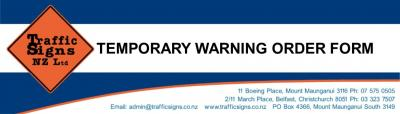 TEMPORARY WARNING ORDER FORM WITH GRAPHICS